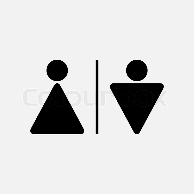 Male And Female Wc Iconctor Male And Female Wc Icon Denoting