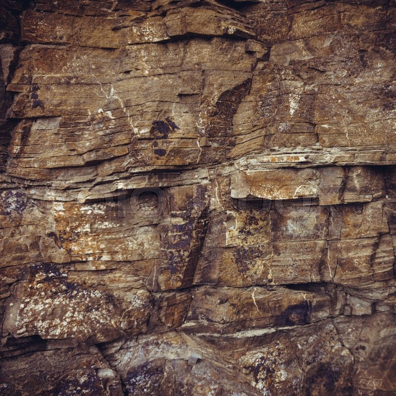 Rock Background Natural Stone Wall Texture Stock Photo