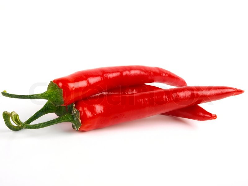red chili pepper close up white background stock photo colourbox. Black Bedroom Furniture Sets. Home Design Ideas