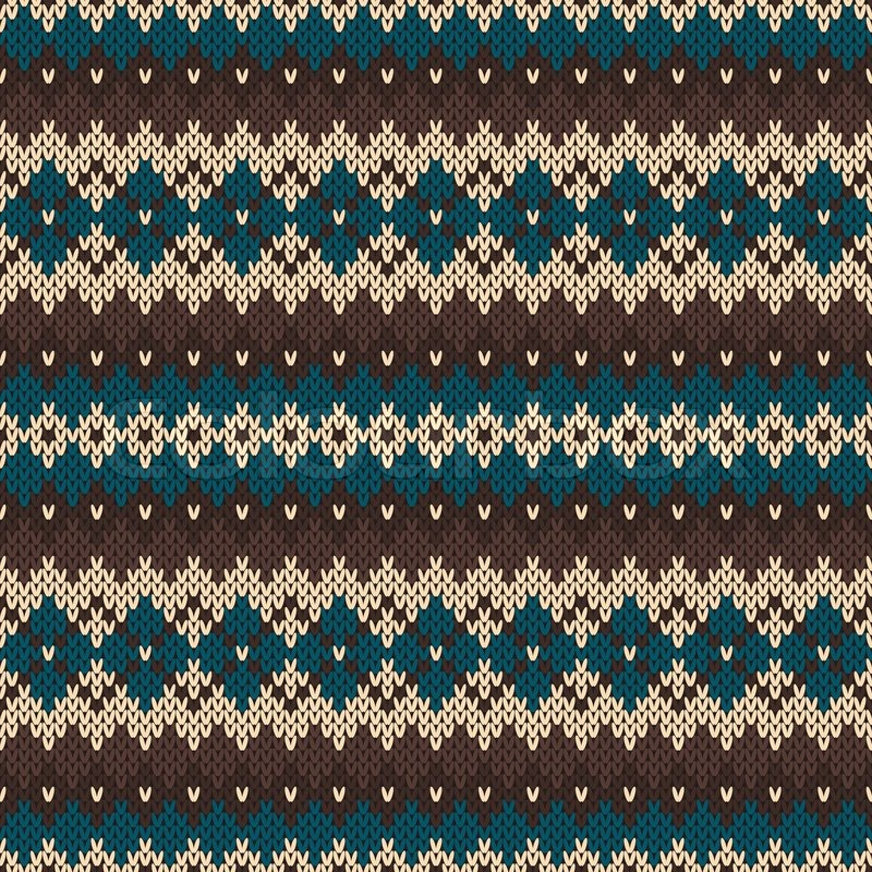 Nordic traditional Fair Isle style seamless pattern on the wool ...
