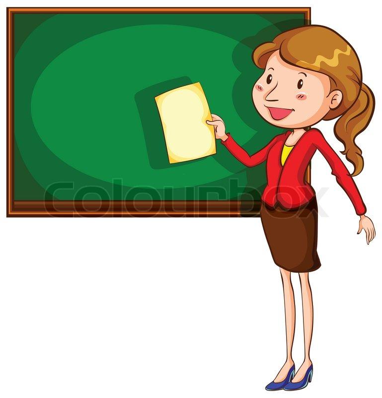 A_Teacher_Drawing_A_Geometric_ ...