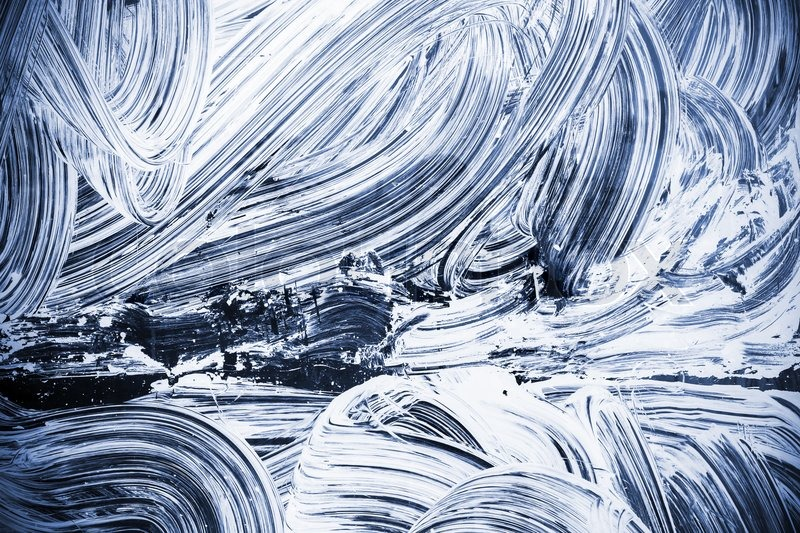 Abstract renovation background texture, white paint pattern over dark blue  glass | Stock Photo | Colourbox