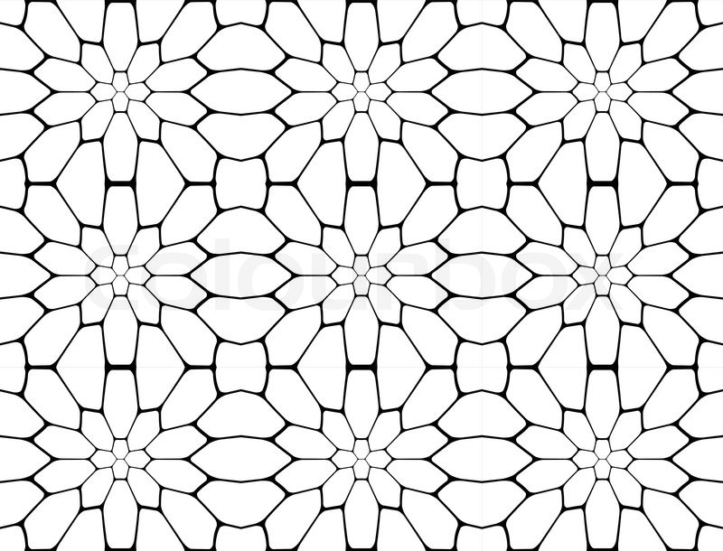 Exceptional Design Seamless Monochrome Polygon Geometric Pattern. Abstract Simple  Background. Vector Art, Vector