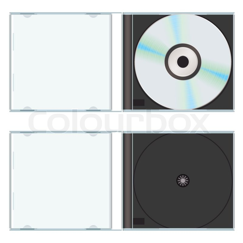 Music Or Computer Cd With Plastic Case Open And Empty Stock Vector