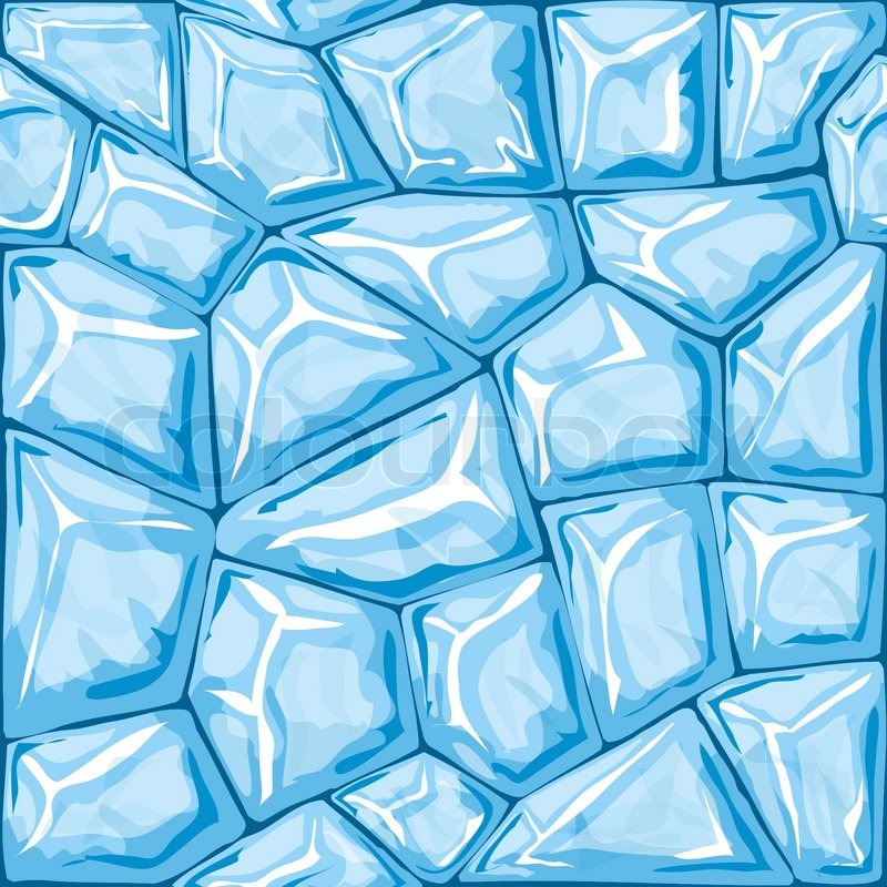 Vector Illustration Of Blue Ice Brick Seamless Pattern Stock Unique Ice Pattern