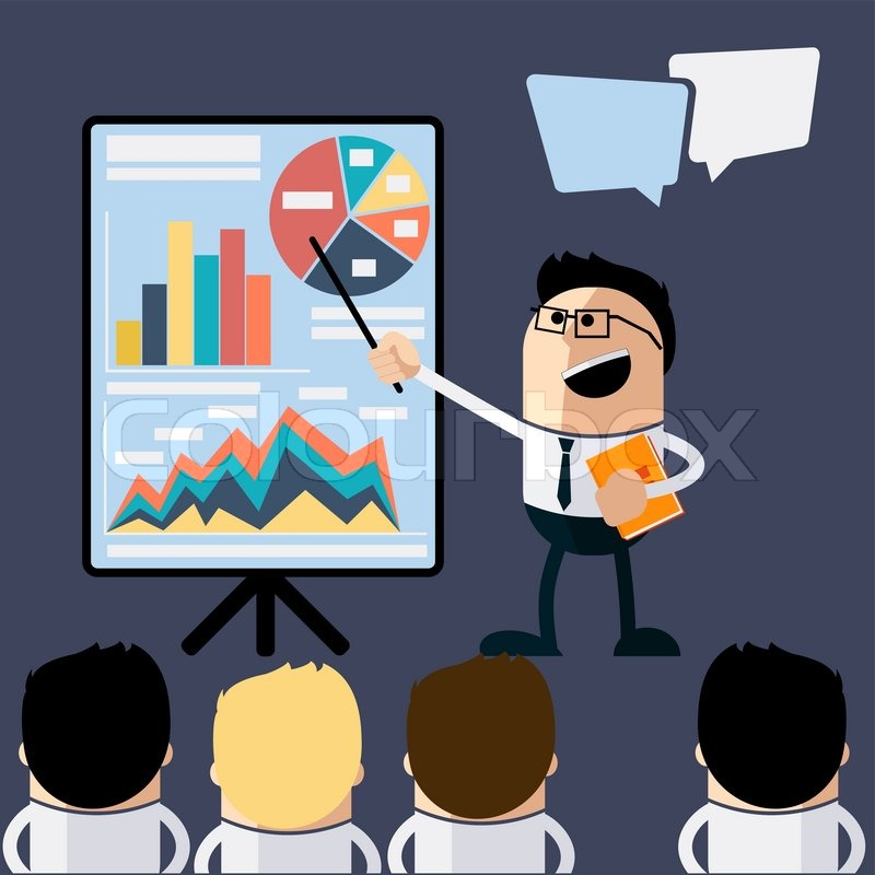 meeting businessman pointing presentation infogarhics board, Powerpoint templates