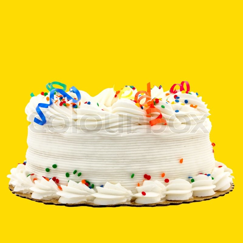 Delicious White Vanilla Birthday Cake