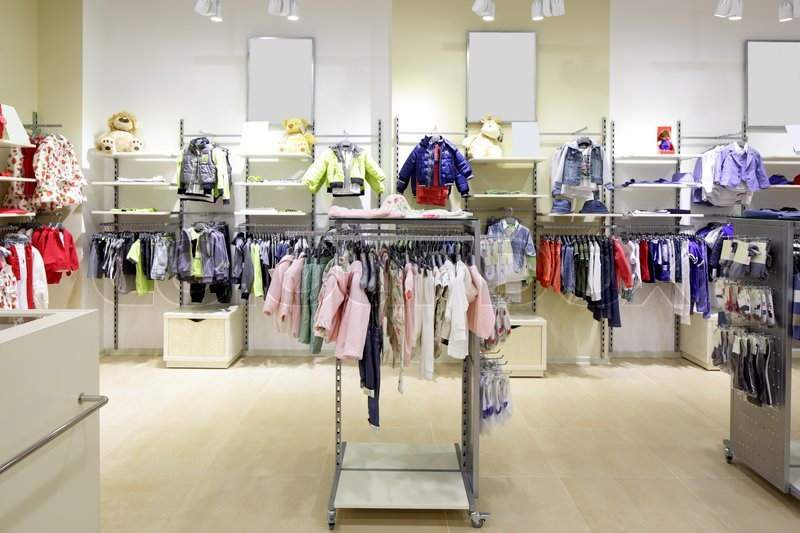 Luxury And Fashionable Brand New Interior Of Kids Cloth