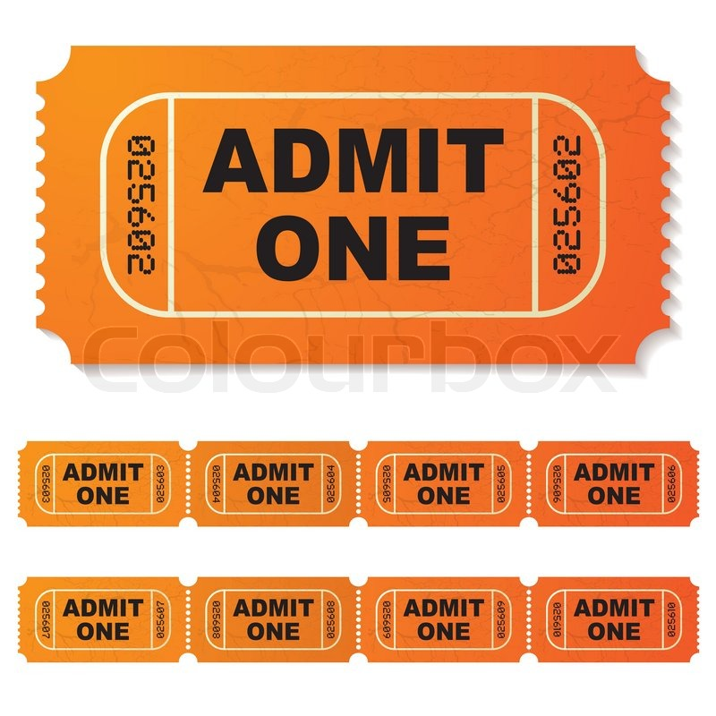 Doc400208 Ticket Admit One Template Ticket Admit One Template – Ticket Admit One Template