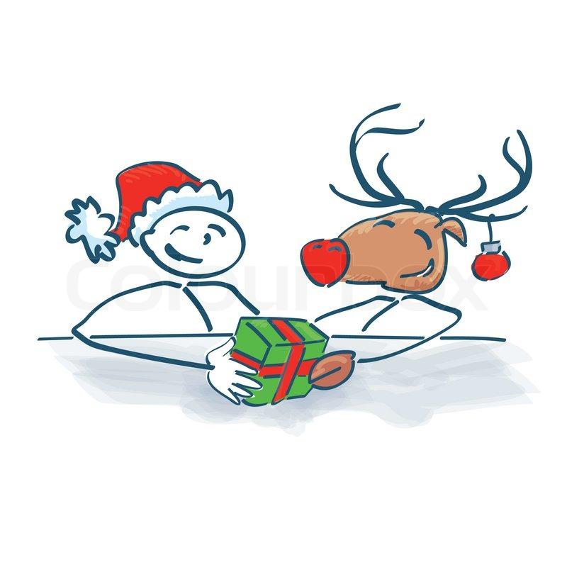 Strichmännchen Weihnachten
