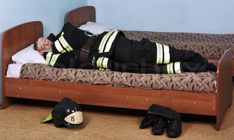 Image result for sleeping fireman