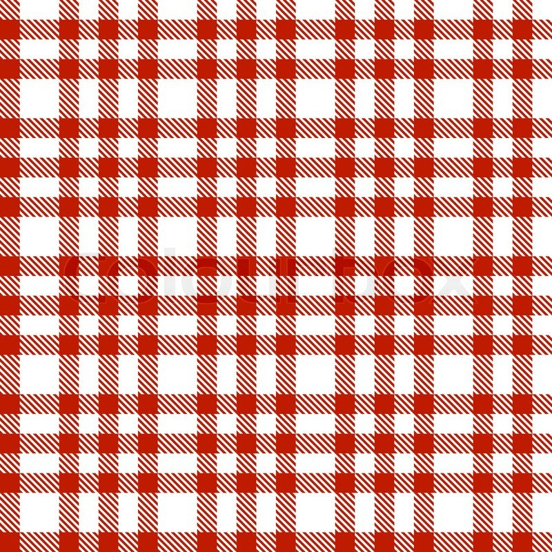 Red Checkered Pattern Endless Stock Vector Colourbox