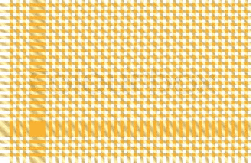 Vector Of Yellow Checkered Table Cloths Pattern Corner Background | Stock  Vector | Colourbox