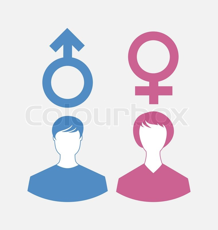 Illustration Male And Female Icons Gender Symbols Vector Stock