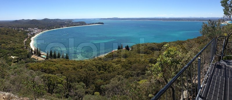 Panorama of shoal bay port stephens nsw australia scenic views from mt tomaree shoal bay is - Impressive house with tranquil environment to get total relaxation ...