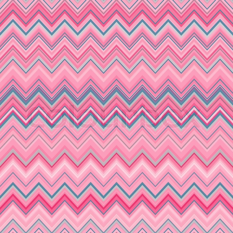 Cute Zig Zag Stripe Seamless Pattern Vector Illustration For