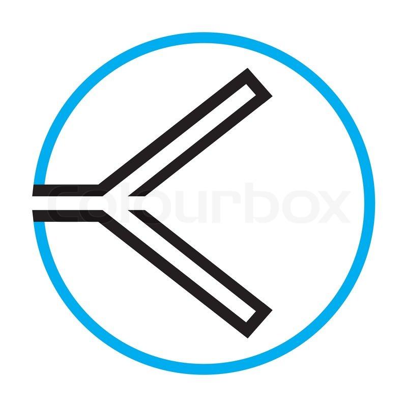Rewind Symbol Vector Illustration Stock Vector Colourbox