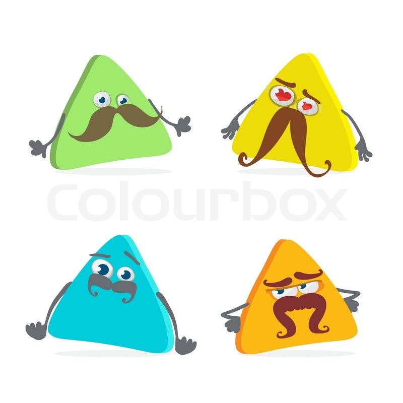 Triangle Cartoon Characters Cartoon Character Triangle
