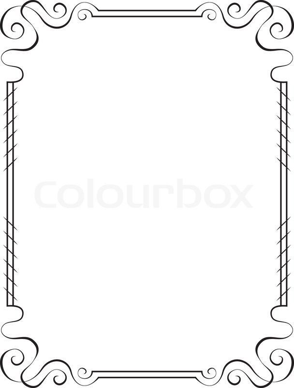 Vector vertical frame. Element for graphic design | Stock Vector ...