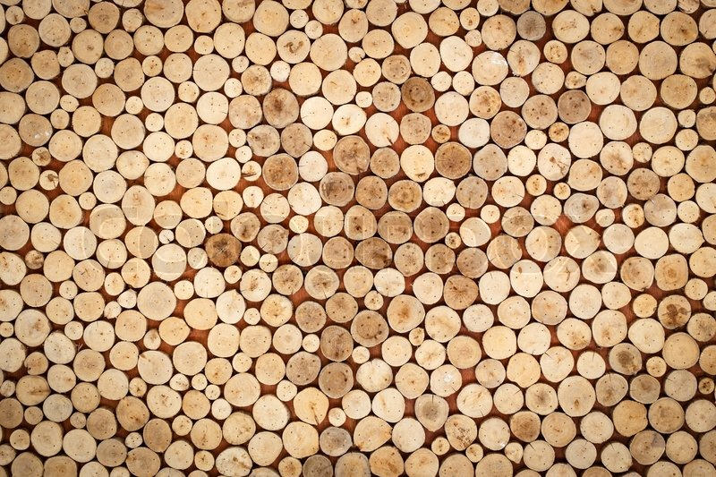 Abstract of wood logs texture background stock photo