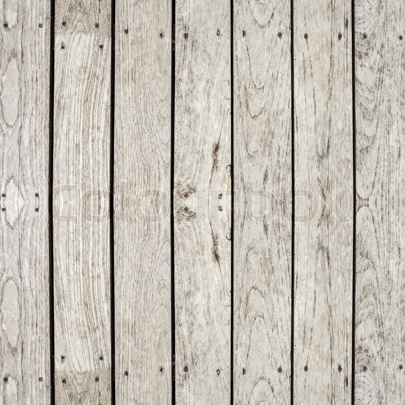 Grey Timber Decking Background And Texture Stock Photo