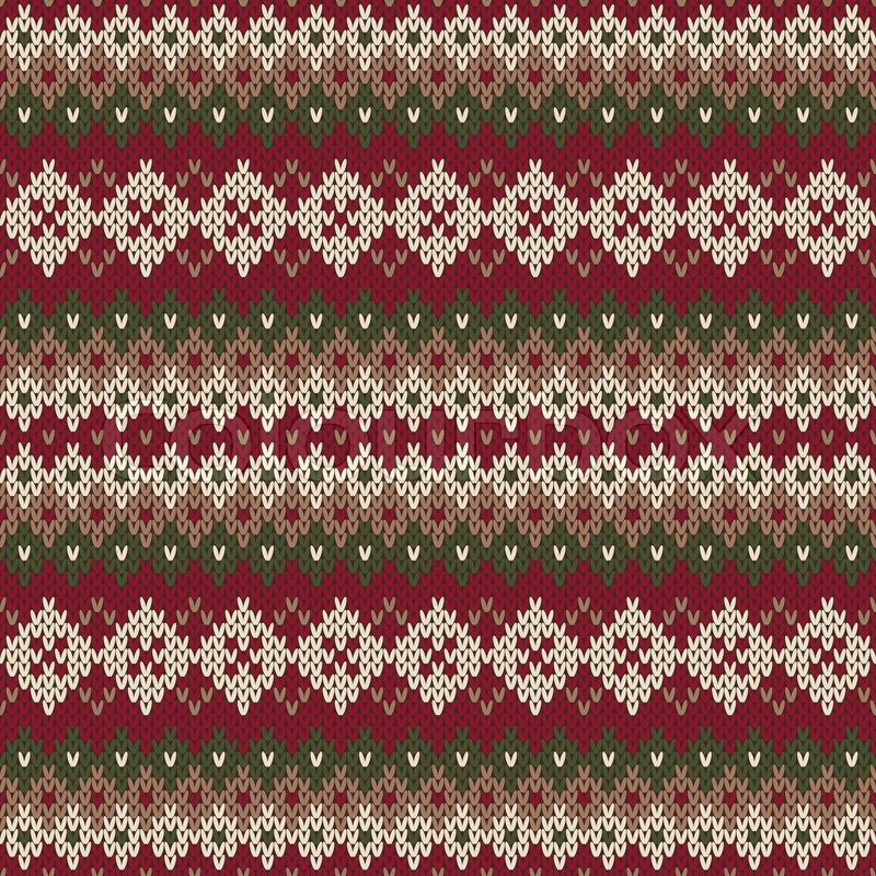 Christmas Sweater Design. Seamless Knitted Pattern in traditional ...