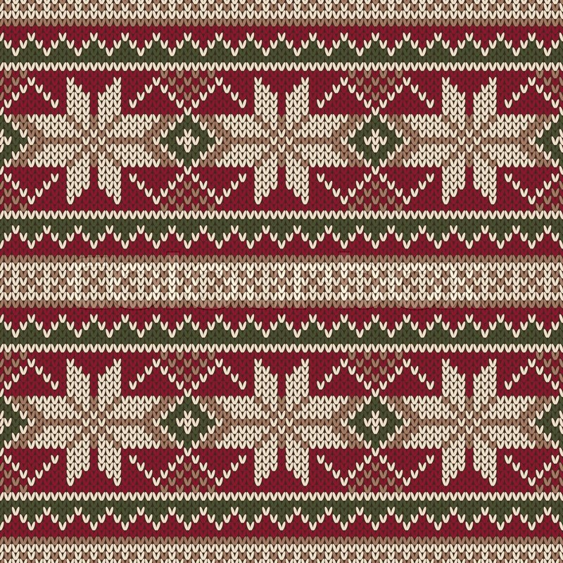 christmas sweater design seamless knitting pattern winter holiday background stock vector colourbox