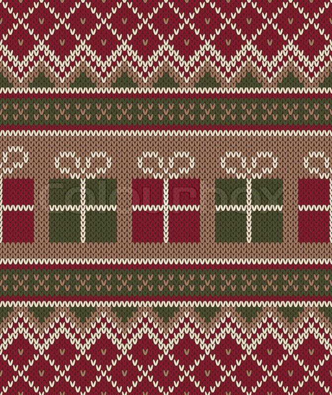 Christmas Sweater Design. Seamless Knitting Pattern ...