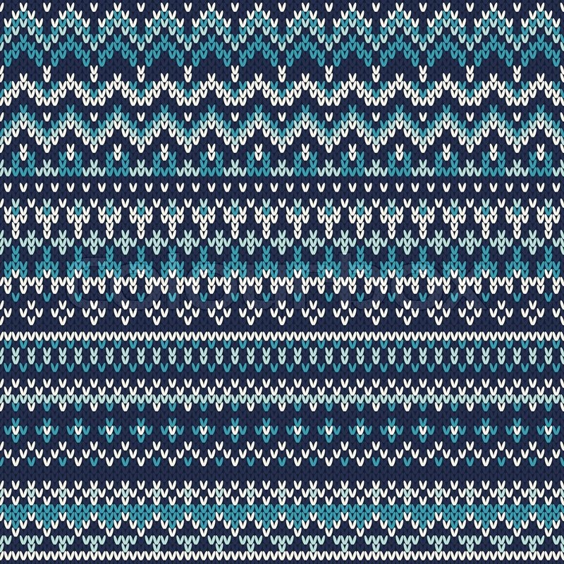 Seamless Fair Isle Knitted Pattern Festive And Fashionable Sweater