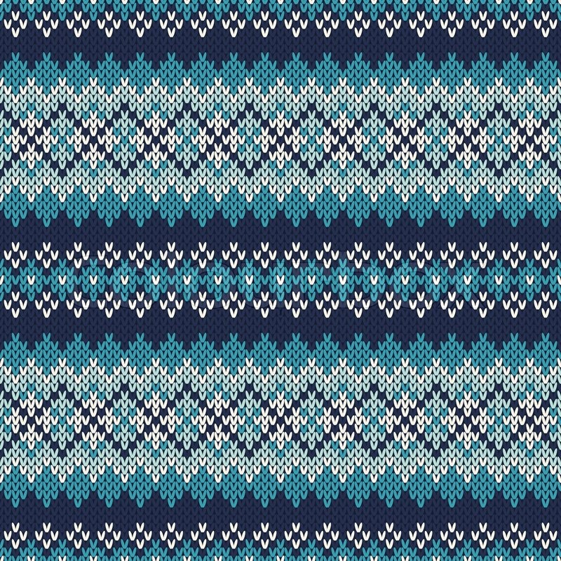 Knitting Vector Patterns : Seamless fair isle knitted pattern festive and