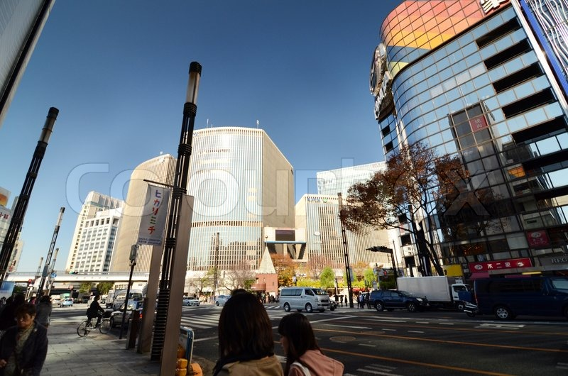 Tokyo, Japan - November 26, 2013 : People shopping at Modern building in Ginza area on November 26, 2013 in Tokyo. Ginza shopping area. The popular tourist spot in Tokyo. , stock photo