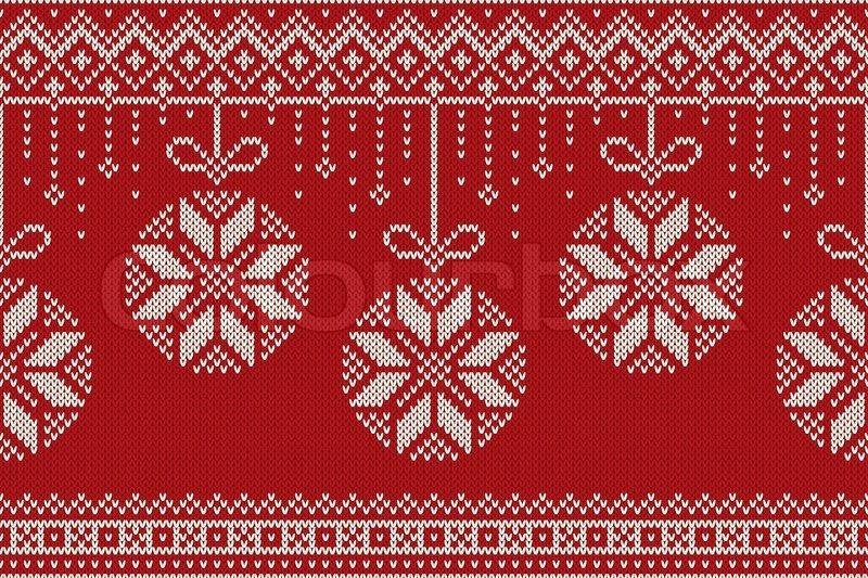 Winter Holiday Seamless Knitting Pattern Christmas And New Year