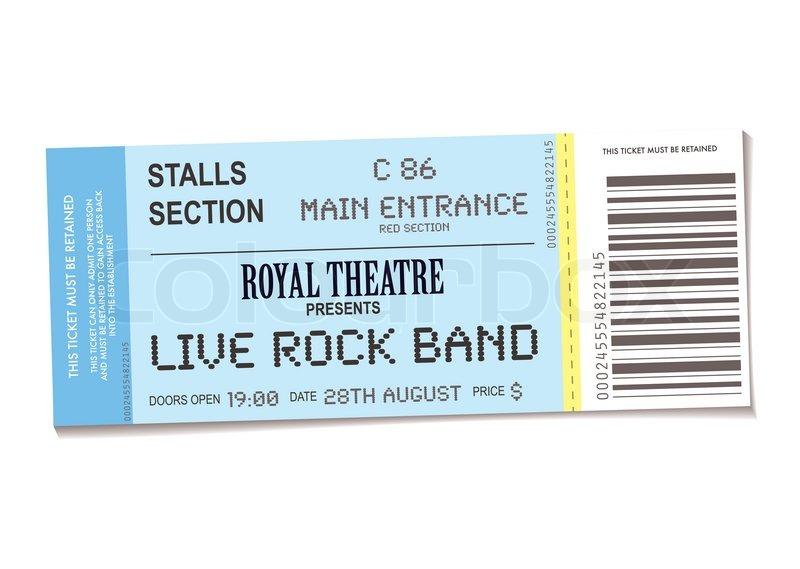 Concert Ticket Barcode Concert Ticket With Shadow