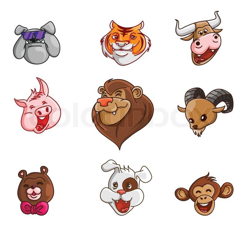 Animal Head Collection :     | Stock vector | Colourbox