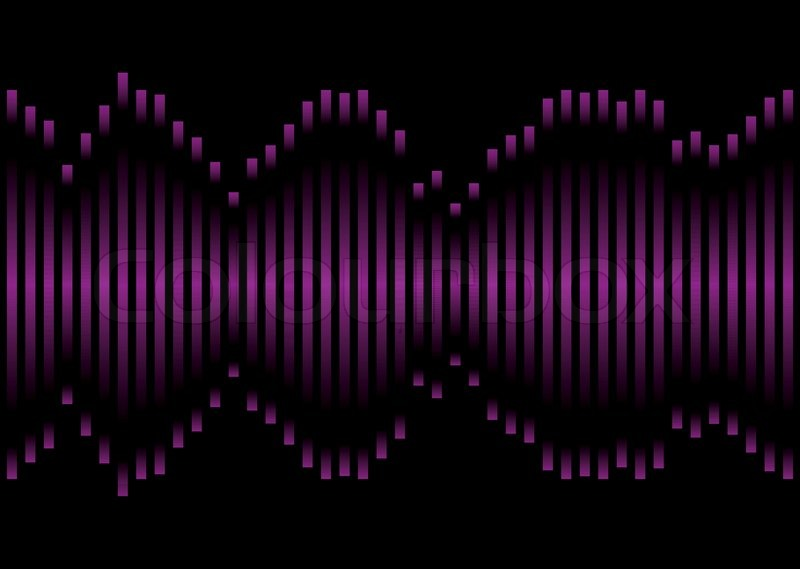 Music Inspired Graphic Equaliser In Pink And Purple With Black Background