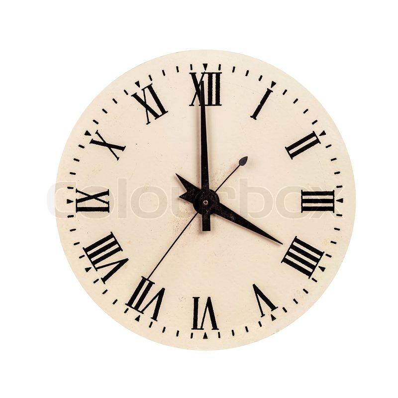 Clock Face Showing 12 O'clock Face Showing Four O'clock