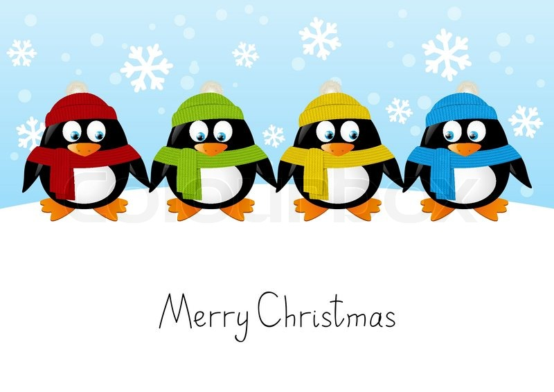 cute cartoon penguins on winter background stock vector free snowflake clipart images snowflake clipart images free