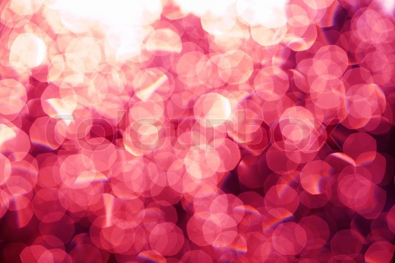 Glitter Festive Christmas Lights Background Pink Light And Silver Gold Defocused Texture