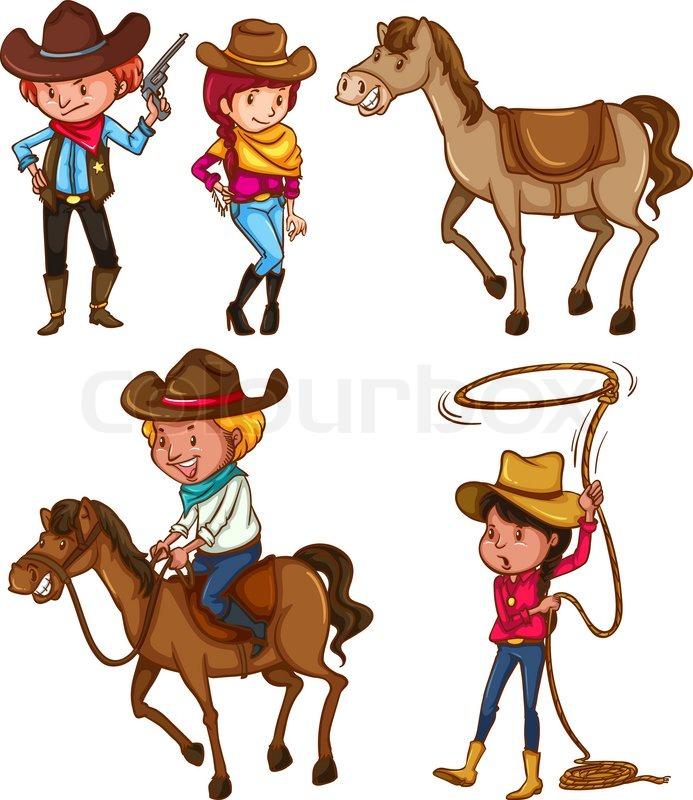 рисунок ковбойская тема