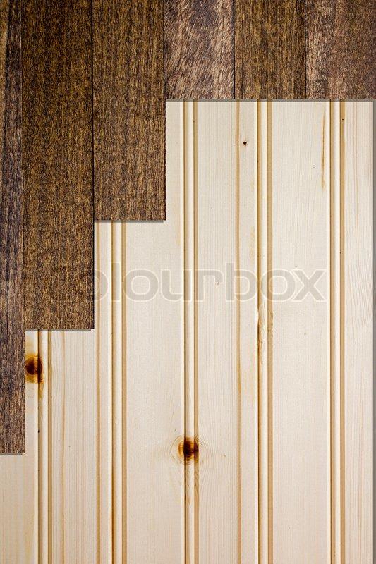 holzbretter mit rinde wooden planks background of two colors and light stock. Black Bedroom Furniture Sets. Home Design Ideas