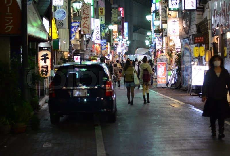 Tokyo, Japan - November 25, 2013: People visit commercial street in the Kichijoji district on November 25, 2013 in Tokyo, Japan. Kichijoji is a neighborhood of the city of Musashino in that city Tokyo, stock photo