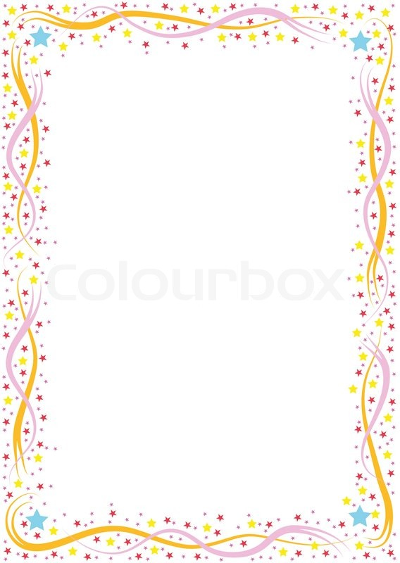 Colorful border with lines and balls | Stock Vector ...