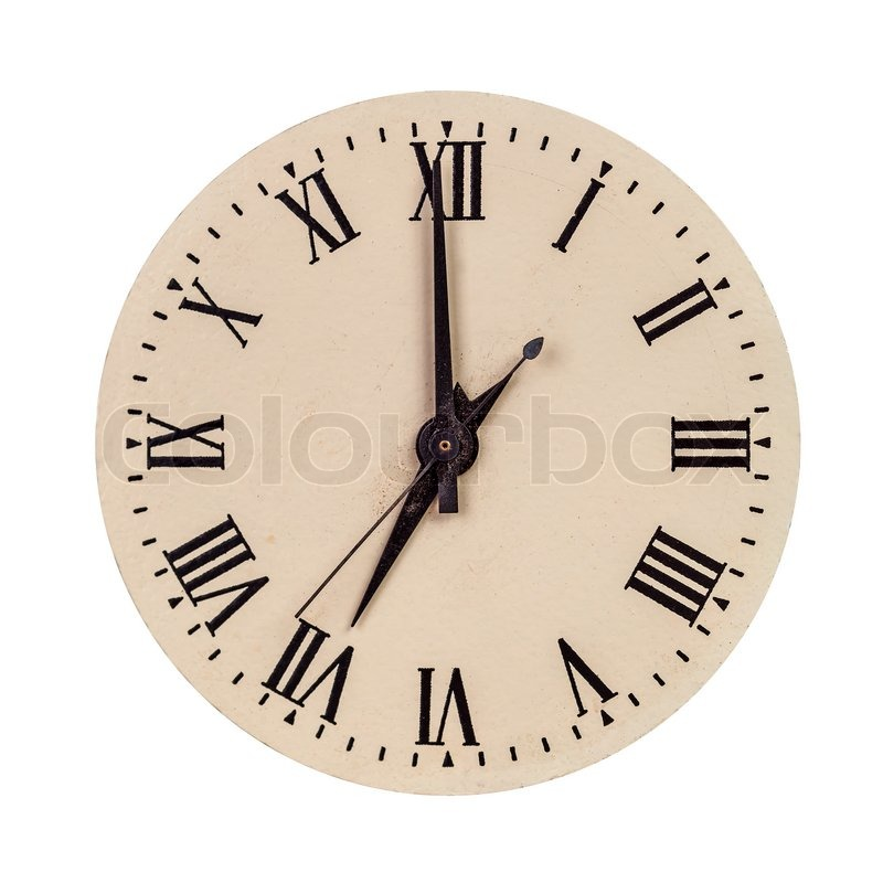 Clock Face Showing 12 O'clock Face Showing Seven O'clock