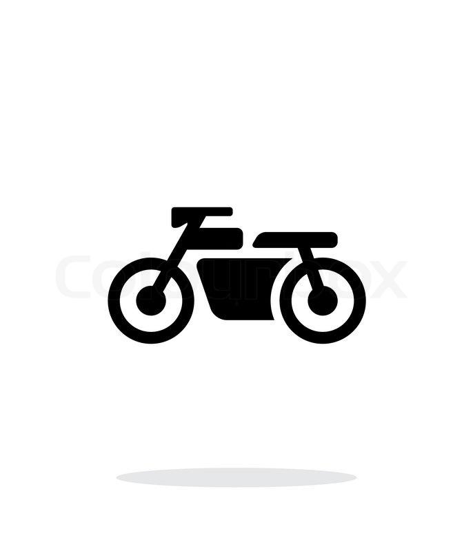 Motorbike simple icon on white background. Vector illustration ...
