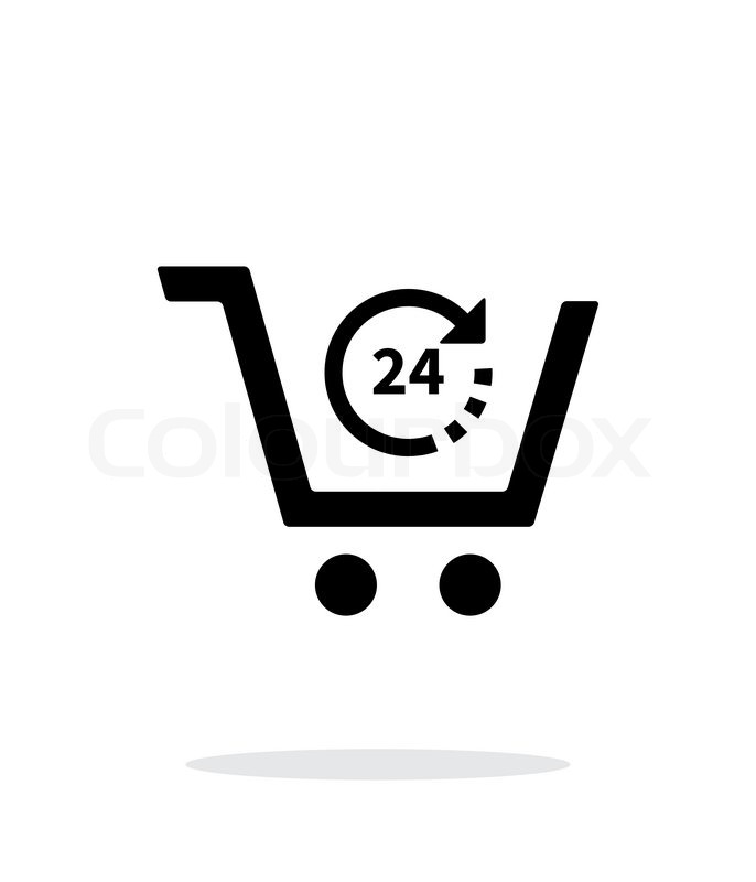 Convenience store simple icon on white background. Vector illustration ...