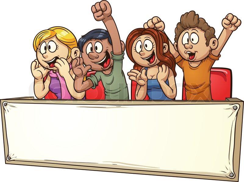 Cartoon, weiße, fahne | Vektorgrafik | Colourbox
