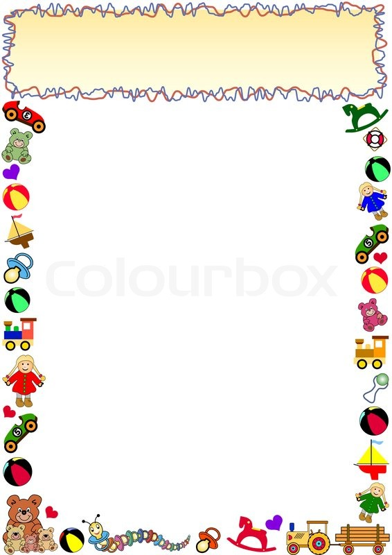 Clipart Border Line Stock Vector Colourbox