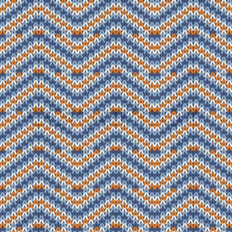 Retro Style Seamless Knitted Pattern. Vector illustration ...