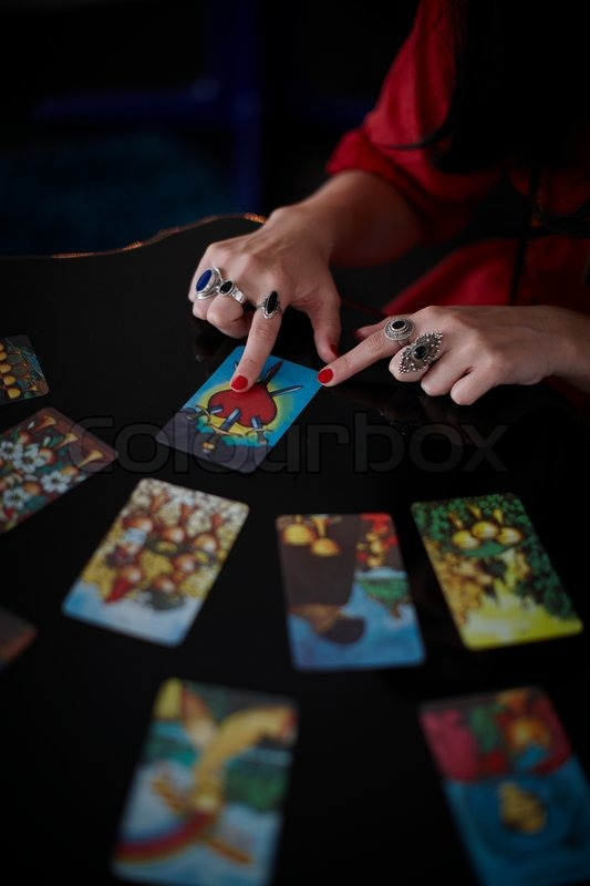 The hand of a fortune teller reading ... | Stock image | Colourbox
