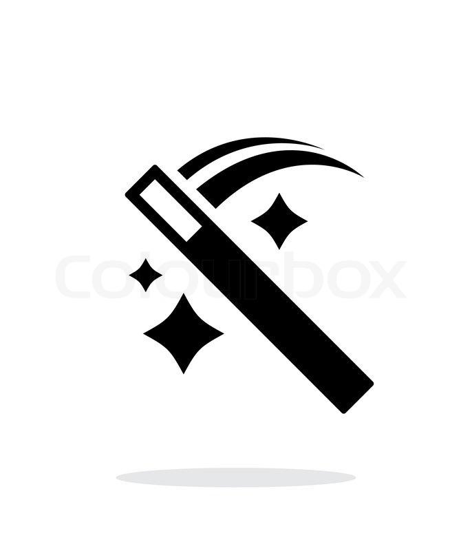 Move magic wand icon. Vector illustration. | Stock Vector ...